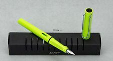 LAMY Safari Special Edition Neon Lime Green Fountain Pen from 2015 (with M-nib)