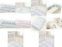 Breathable Baby Mesh Liner Airflow Cot Bumper 2 or 4 Sided Breathablebaby