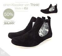 Think! GUAD Damen Chelsea-Stiefeletten **Made in EU Design Effektleder Schwarz