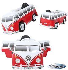 Kinderfahrzeug 12V Kinder Elektro Auto VW T1 Camper Samba Bulli Transporter Bus