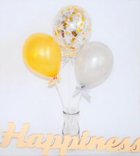 Silver & Gold Confetti Balloon Kit, Anniversary, Wedding, Engagement Decoration