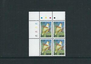 FIJI 2009-10 BIRD PROVISIONAL (Sc 1217 2c on 23c) VF MNH plate block of 4