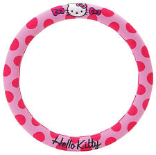 NEW AUTHENTIC SANRIO HELLO KITTY PINK CAR STEERING WHEEL COVER heavy duty