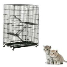 New Large Folding Collapsible Pet Cat Wire Cage For Indoor Outdoor Play Sleep
