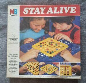 STAY ALIVE Board Game Vintage 1975 MB Games