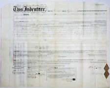 RARE! CIVIL WAR Arrested Anti-Lincoln Editor, Albert Boileau Signed 1859 Deed