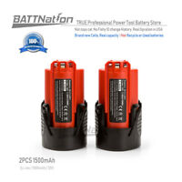 2* 12V 1.5AH 1500mAh Lithium-Ion Battery for Milwaukee 48-11-2401 M12