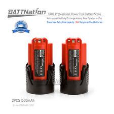 2* 12V 1.5AH 1500mAh Lithium-Ion Battery for Milwaukee 48-11-2401 M12