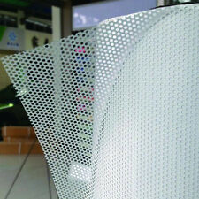 "54""x20"" White Perforated One Way Vision Print Media Vinyl Window Film"