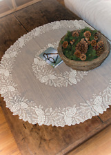 """Heritage Lace Ivory Highland Pine 42"""" Round Table Topper"""