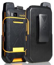 BLACK BELT CLIP HOLSTER CASE STAND FOR SONIM XP7 PHONE (XP7700)