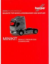 HERPA MiniKit 1:87/H0 LKW Renault Premium 2005 Zugmaschine weiß Bausatz #013635