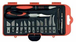 18-tlg Bastelmesser Skalpell Set Präzisionsmesser Cutter Messer Schnitzmesser