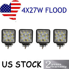 4 x 27W 12V 24V LED Work Light FLOOD Lamp Tractor Truck SUV UTV ATV Offroad JEEP