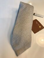 325$ Loro Piana Baby Cashmere, Wool and Silk Tie Navy Beige Made in Italy