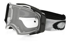 Maschera Oakley Airbrake Mx Goggle Matte White Speed Clear 57-980 Cross DH