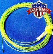 Wonderfurl Hi-Vis Yellow Precision Furled Fly Fishing Leader with Tippet Ring
