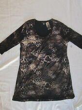 NEW! $154 karen kane 0X plus size womens dress animal print 3/4 sleeve browns