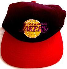 LOS ANGELES LAKERS BASKETBALLL CAP BLACK & RED MENS WOMEN UNISEX ADJUSTABLE NEW