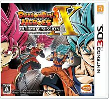 Nintendo 3DS Dragon Ball Heroes Ultimate Mission X with Goku or Vegeta Plush