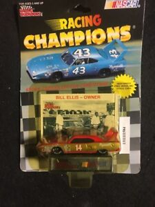RACING CHAMPIONS BILL ELLIS-OWNER  #14 PLYMOUTH SUPERBIRD 1/64 CARD AND STAND