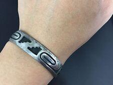 Vintage Victor Coochwytewa Hopi Sterling Silver Bracelet Cuff