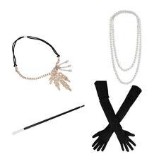 1920s Great Gatsby Hair Accessories Women Flapper Headpiece Headband Necklace