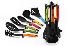 Juego de utensilios de cocina moderna herramientas de cocina de 7 piezas de nylon Colgante Base Giratoria
