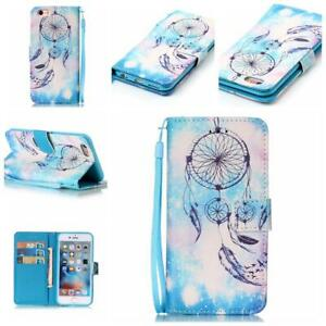 Protector Wallet iPhone Case for Apple iPhone 7 8 Plus Cover Blue Dreamcatcher