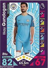 2016 / 2017 EPL Match Attax Base Card (173) Ilkay GUNDOGAN Manchester City