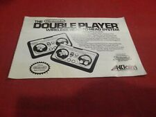 Acclaim Double Player Controller Nintendo NES Instruction Manual Booklet ONLY