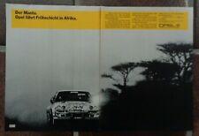 Opel Manta 400 Auto Werbung bzw Reklame, Safari Rallye