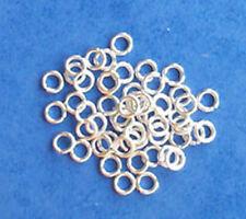 100 Chapado en Plata Anillos de Salto de 4mm, las conclusiones para la fabricación de joyas Artesanías