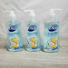3 PACK Dial Liquid Coconut Water & Mango Hydrating Hand Soap 7.5 FL Oz Each