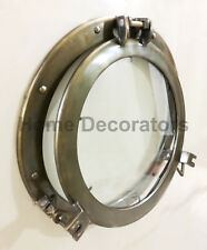 "Antique Ship Porthole Window 17"" Nautical Maritime Porthole Glass Window Decor"