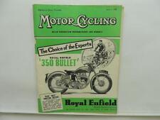 June 1954 MOTORCYCLING Magazine Royal Enfield 350 Bullet L8652
