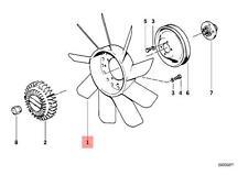 Genuine BMW E24 E28 E30 Radiator Cooling Fan 11 Blade 410mm OEM 11521723363