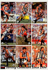 1995 Select AFL Series 1 Personal Autographed Cards Team Set Collingwood (15)