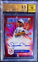 MARIANO RIVERA 2014 FINEST GREATS RED REFRACTOR AUTO SP #/25 BGS 9.5 GEM MINT 10