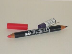 ORIFLAME SWEDEN ON COLOUR LIP & EYE DUO CRAYON #APRICOT CORAL & PURPLE 1.5 g.NEW