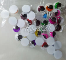 35 occhietti mobili colorati da 8 mm occhi per pupazzi miniature decorazioni