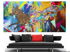 WEISE XXL Acryl BILD Abstrakt Gemälde Leinwand 75 x 150 auf Keilrahmen Nr.52/21