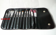 Crown Brush Professional Full Size Brush Set (12pk w/PVC Carrying Case) - NEW