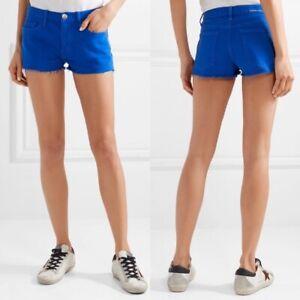 New Tag Women's Size 25 CURRENT/ELLIOTT Nautical Royal Blue Boyfriend Cut Shorts