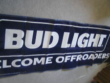 New Large Budweiser Bud Light Banner Sign Beer Welcome Offroaders Pennants