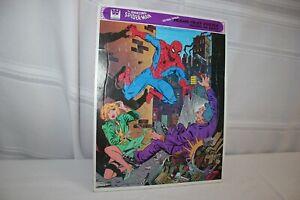 Vintage Whitman The Amazing Spiderman Frame Jigsaw Tray Puzzle 1979 Marvel Comic
