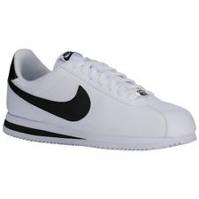 Brand New Men's Nike Cortez Athletic Flat Skate Shoes | White & Black