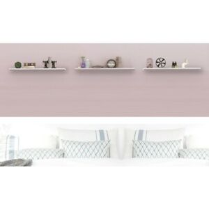 Floating Wall Shelf Wooden Shelves Wall Storage 80cm - White - Pack of 3