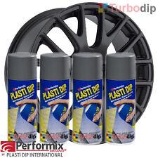 PACK jantes PLASTIDIP plasti dip 4 bombes de peinture spray GRIS Mat performix