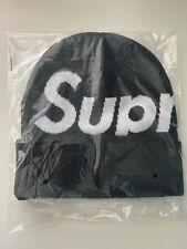 Supreme FW19 Big Logo Beanie S Logo Black Box Logo Rare Color Camp Cap Hat